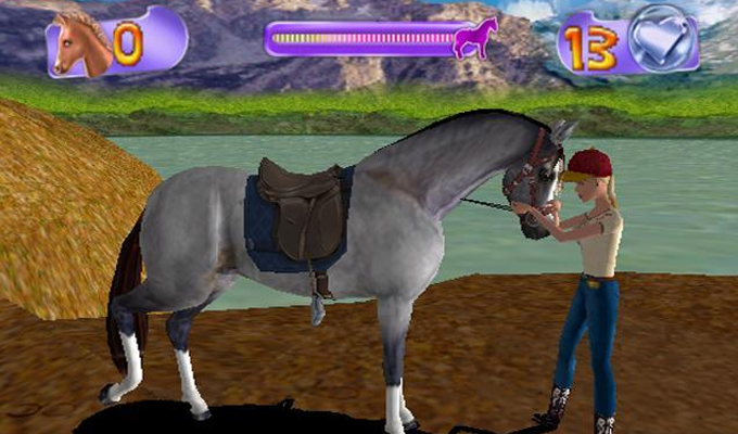 Barbie cavali re stage d equitation wii - Jeux de barbie avec son cheval ...