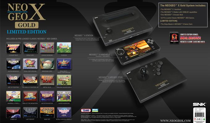 Console Neo Geo X Gold-4