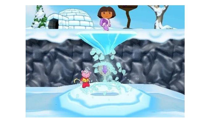 photo du jeu dora sauve la princesse des neiges sur ds