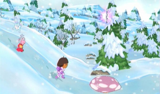 photo du jeu dora sauve la princesse des neiges sur wii