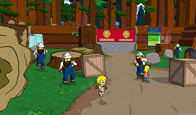 Jeux Vidéo de Simpson sur Xbox 360