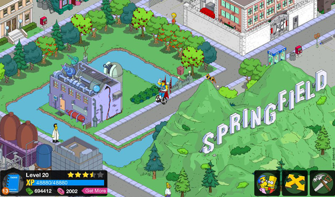 Les Simpson Springfield iPhone (2)