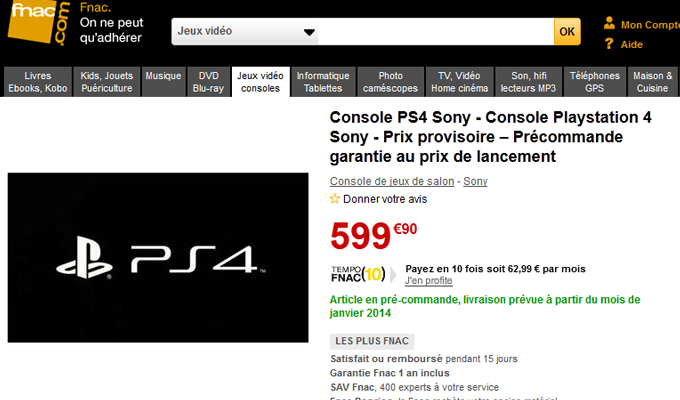 PS4 fnac