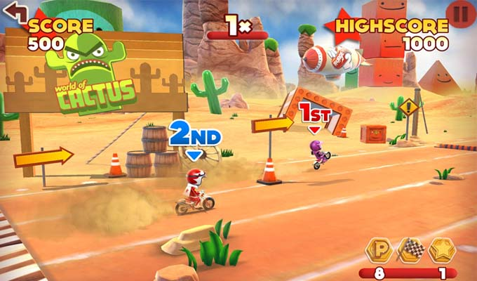 Joe Danger iPad-2