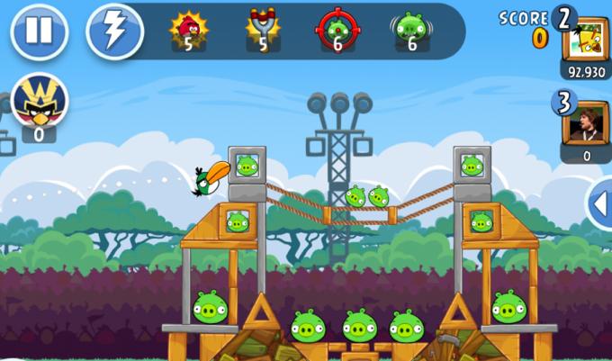 Photo du jeu Angry Birds Friends sur iPad